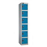Probe 6 Door Locker ACTIVECOAT W305xD305xH1780mm Silver Body Blue Doors