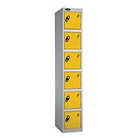 Probe 6 Door Locker ACTIVECOAT W305xD305xH1780mm Silver Body Yellow Doors