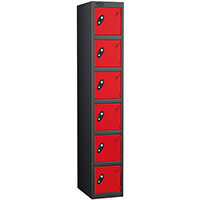 Probe 6 Door Locker ACTIVECOAT W305xD305xH1780mm Black Body Red Doors