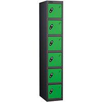 Probe 6 Door Locker ACTIVECOAT W305xD305xH1780mm Black Body Green Doors