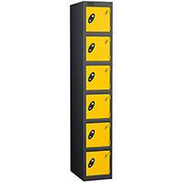 Probe 6 Door Locker ACTIVECOAT W305xD305xH1780mm Black Body Yellow Doors