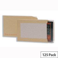 C4 Hard Backed Envelopes Peel and Seal Manilla Pack 125 5 Star