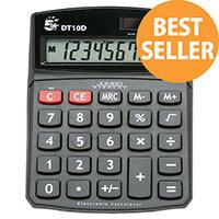 Desktop Calculator Battery/Solar-power DT10D 5 Star