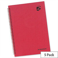 5 Star A4 Wirebound Manuscript Book 160 Pages Pack 5