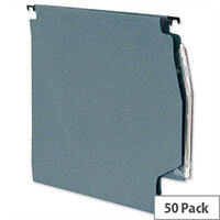 Lateral 275mm Files 15mm V Base 215gsm Manilla Green Pack 50 5 Star Ref 913772