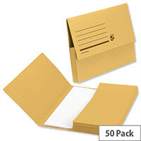 Document Wallet A4 Yellow Pack 50 5 Star