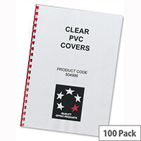 Comb Binding Covers PVC 200 micron A4 Clear Pack 100 5 Star