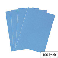 5 Star Office Binding Covers 240gsm Leathergrain A4 Blue (Pack of 100)