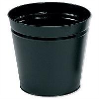 5 Star Office Waste Desk Bin Round Steel Scratch Resistant D300xH280mm 15 Litres Black