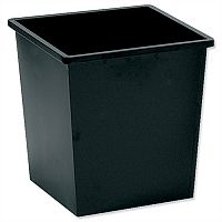 5 Star Office Waste Desk Bin Square Steel Scratch Resistant W325xD325xH350mm 27 Litres Black