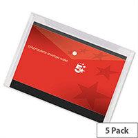 A3 Envelope Wallet Plastic Transparent Pack 5 5 Star