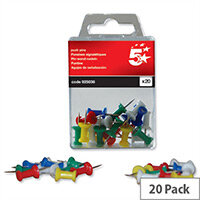 Push Pins Assorted Opaque Pack 20 5 Star