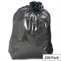 Refuse Sacks Medium Duty Recycled 120 Gauge 110 Litre Capacity Black Box 200