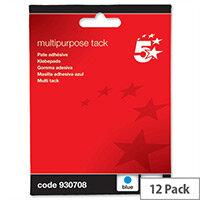 Multipurpose Adhesive Blue Tack Reusable 70g Pack 12 5 Star