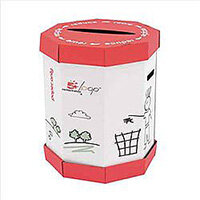 5 Star Remarkable Loop Paper Recycling Office Waste Bins 60L (Pack 5)