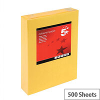 5 Star Medium Gold A4 Paper Multifunctional Ream-Wrapped 80gsm 500 Sheets