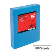 5 Star Deep Blue A4 Printer Paper Multifunctional Ream-Wrapped 80gsm 500 Sheets