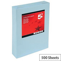 5 Star Light Blue A3 Paper Coloured 80gsm Multifunctional Ream-Wrapped 500 Sheets