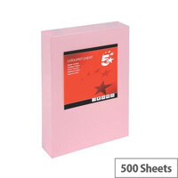 5 Star Light Pink A3 Paper Multifunctional Ream-Wrapped 80gsm 500 Sheets