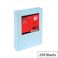 5 Star Light Blue A4 Card Paper Multifunctional 160gsm 250 Sheets