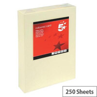 5 Star Light Cream A4 Card Paper Multifunctional 160gsm Pack of 250 Sheets