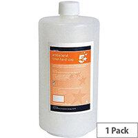 5 Star Anti-Bacterial Hand Wash Liquid Soap Dispensers Refill 1 Litre (Pack 1)