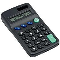 5 Star Office Pocket Calculator 8 Key Display Dual-powered by Solar and Battery