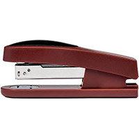 5 Star Office Half Strip Stapler Top Loading Rubber Base 27 Sheet Capacity 26/6 Staples Red