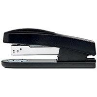 5 Star Office Half Strip Stapler Top Loading Rubber Base 25 Sheet Capacity 26/6 Staples Black