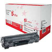 5 Star Office Remanufactured HP CF283X 83X Black Yield 2,200 Pages High Capacity Laser Toner Cartridge