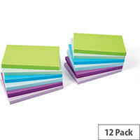 5 Star Office 76x127mm Re-move Sticky Notes 6 Neon/Pastel Colours 100 Sheets Per Pad Pack of 12 Pads