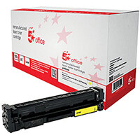 5 Star Office Remanufactured HP CF402A 201A Yellow Yield 1,400 Pages Laser Toner Cartridge Ref 940635