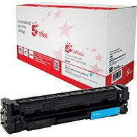 5 Star Office Remanufactured Laser Toner Cartridge Page Life 2800pp Cyan HP 201X CF401X Alternative