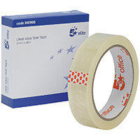 5 Star Elite Easy Tear Tape PP 3in Core 24mm x 66m Clear