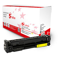5 Star Office Remanufactured Toner Cartridge Page Life Yellow 2500pp [HP 203X CF542X Alternative]