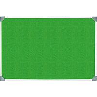 5 Star Green Felt Noticeboard 900x600mm Aluminium Frame