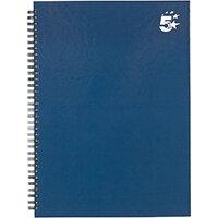 5 Star Office Twinbound Hardback A4 140Pg Indigo Ref 943482 [Pack 5]