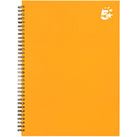 5 Star Office Twinbound Hardback A4 140Pg Yellow Ref 943488 [Pack 5]