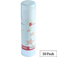 5 Star Glue Stick Large 40gms Pk 30