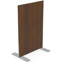 Ashford Floor Standing Fixed Screen 1200mm High 800mm Wide Dark walnut