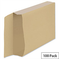 New Guardian Armour Gusset C4 Envelopes Manilla 130gsm Peel and Seal Pack of 100