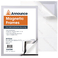 Announce Magnetic Frames A4 Silver Pack of 2 AA01840