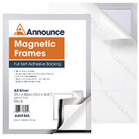 Announce Magnetic Frames A3 Silver Pack of 2 AA01843