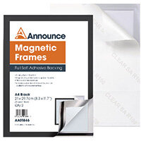 Announce Magnetic Frames A4 Black Pack of 2 AA01846