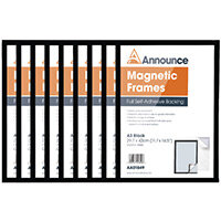 Announce Magnetic Frames A3 Black Pack of 10 AA01851