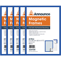 Announce Magnetic Frames A4 Blue Pack of 5 AA07540