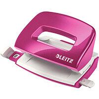 Leitz New NeXXt WOW Mini Hole Punch Metallic Pink