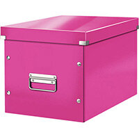 Leitz Box Click & Store Cube Large Storage Box Pink