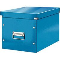 Leitz Box Click & Store Cube Large Storage Box Blue