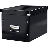 Leitz Box Click & Store Cube Large Storage Box Black